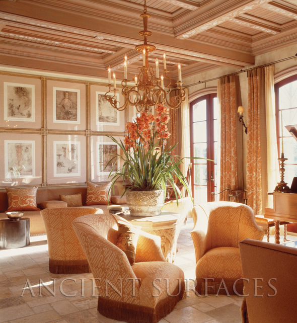 Antique limestone flooring By Ancient Surfaces