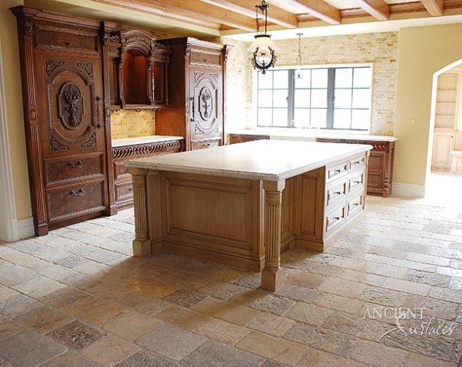Antique kitchen stone flooring by ancient surfaces