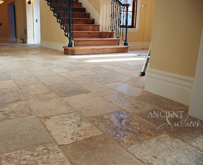 Authentic antique limestone floors by Ancient Surfaces. Visit us to learn more.