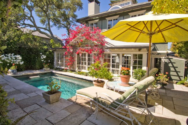 Gorgeous-Plunge-Pool-technique-San-Francisco-Craftsman-Pool-Innovative-Designs-with-4-bedrooms-Adirondack-chairs-antiques-arbor-art-tile-artificial-turf-bead-board-ceiling-Belvedere