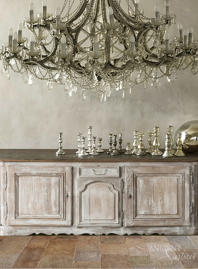 Antique Kronos French Limestone in a Chateau by Ancient Surfaces